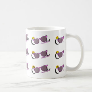 Cool Granddaughter-sun and sunglasses on white Classic White Coffee Mug