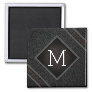 Cool Gray & Black Asphalt Effect With Monogram Magnet
