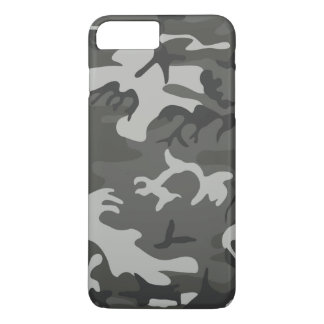 Cool Gray White Urban Camouflage Pattern iPhone 7 Plus Case