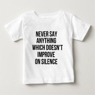 Cool great simple wisdom philosophy tao sentence baby T-Shirt