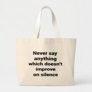Cool great simple wisdom philosophy tao sentence large tote bag