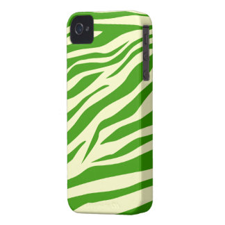 Cool Green/Beige Zebra Print - iPhone 4/4s Case