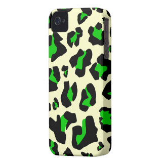 Cool Green/Black Leopard Print - iPhone 4/4s Case