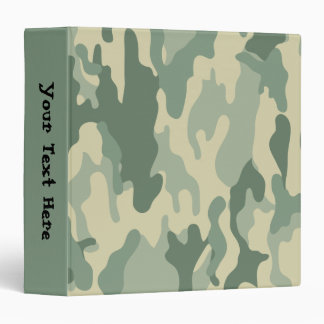 Cool Green Camouflage Pattern Vinyl Binder
