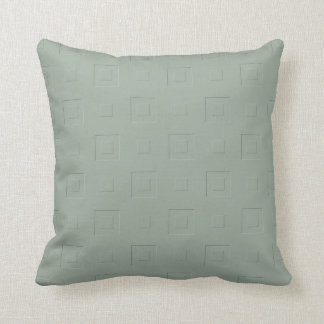 Cool Green Checkered Throw Pillow