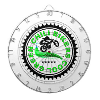 Cool Green Chili Bikers Dartboard