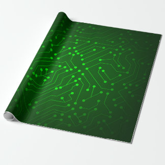 Cool Green Circuit Board Design