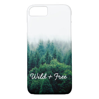 Cool Green Forest Landscape Wild and Free Case-Mate iPhone Case
