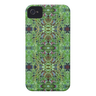 Cool Green Funky Kaleidescope Pattern iPhone 4 Case-Mate Cases