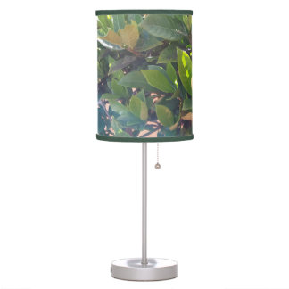 Cool Green Leaves Nature Print Table Lamp