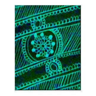 Cool Green Mehndi Postcard