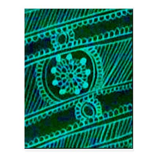 Cool Green Mehndi Postcards