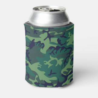 Cool Green Military Camouflage Design Can Cooler
