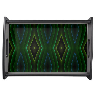 Cool Green Modern Shaped Holiday Entertaining Service Trays