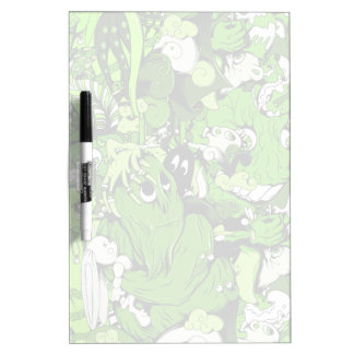 Cool Green Monsters and Zombies Dry Erase Board