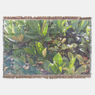 Cool Green Outdoor Plants Picture Throw Blanket