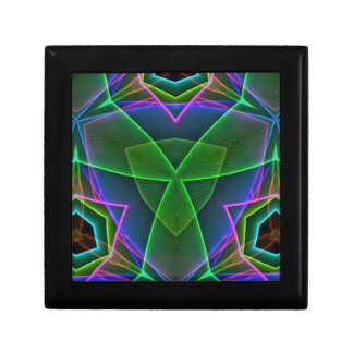 Cool Green Pink Purple Neon Abstract Design Jewelry Boxes