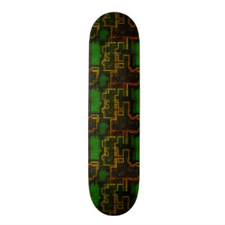 Cool Green Robotic Cyborg Skateboard Deck