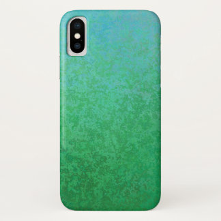 Cool Green Variations with Gradient iPhone X Case