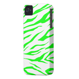 Cool Green/White Tiger Print - iPhone 4/4s Case
