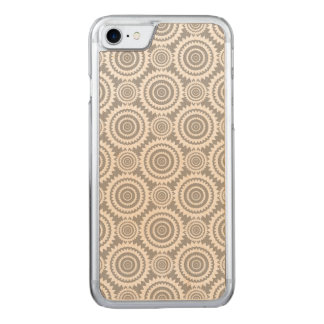 Cool Grey and White Geometric Circles Pattern Carved iPhone 8/7 Case