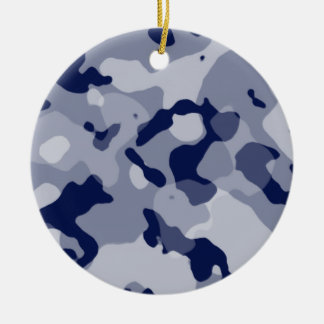 Cool Grey Camo; Camouflage Christmas Ornaments