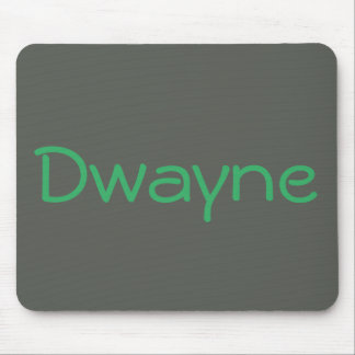 Cool Grey Green Monogrammed Personalized Mouse Pad