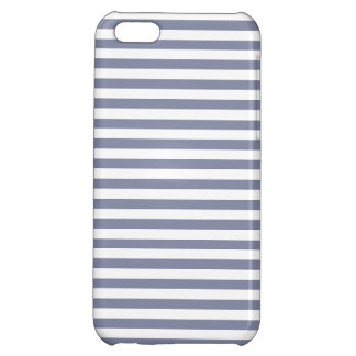 Cool Grey Horizontal Stripes; Striped Cover For iPhone 5C