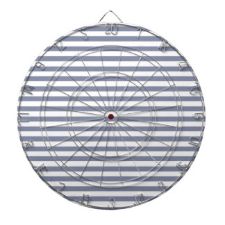Cool Grey Horizontal Stripes; Striped Dartboard