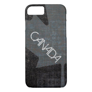 Cool grey on black canadian maple leaf case