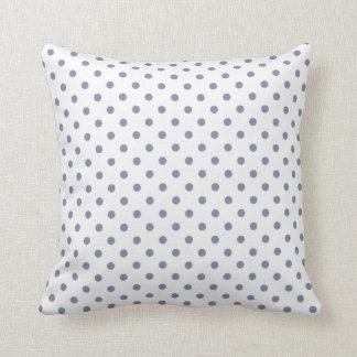 Cool Grey Polka Dots Pillow