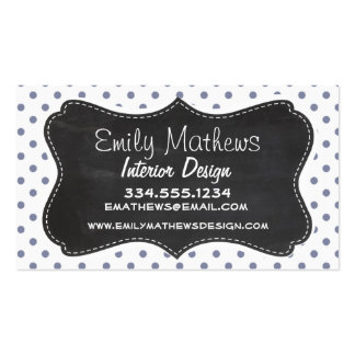 Cool Grey Polka Dots; Retro Chalkboard Pack Of Standard Business Cards