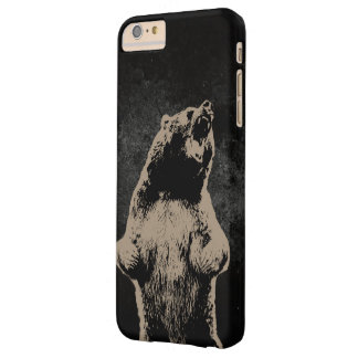 Cool Grizzly Bear Dark Barely There iPhone 6 Plus Case