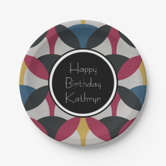 Cool & Groovy Retro Paper Plate