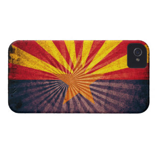 Cool Grunge Arizona Flag Case-Mate iPhone 4 Cases