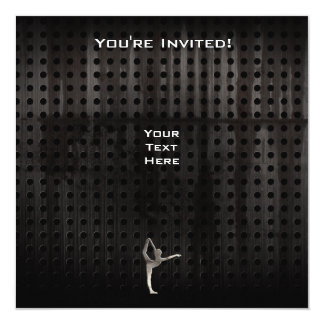 Cool Grunge Ballet 5.25x5.25 Square Paper Invitation Card