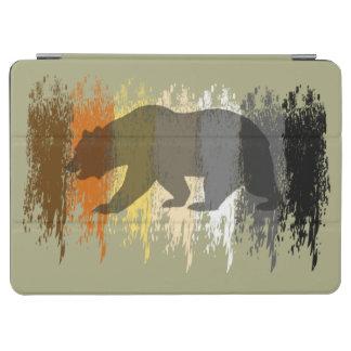 Cool Grunge Bear Shadow Gay Bear Pride Flag iPad Air Cover