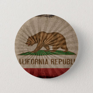 Cool Grunge California Flag 2 Inch Round Button