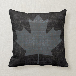 cool grunge Canadian maple leaf flag Throw Pillow