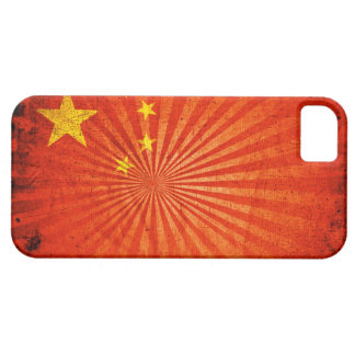 Cool Grunge Chinese Flag iPhone 5 Case