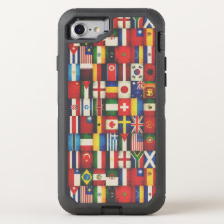 Cool Grunge Flags of the World OtterBox Defender iPhone 8/7 Case