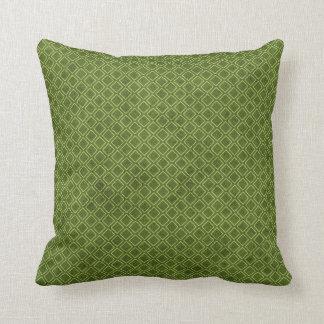 Cool Grunge Green Geometric Diamond Argyle Pattern Throw Pillow