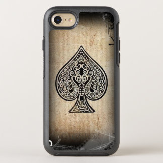 Cool Grunge Hip Retro Artistic Poker Ace Of Spades OtterBox Symmetry iPhone 8/7 Case