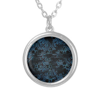 Cool Grunge Medieval Print Round Pendant Necklace