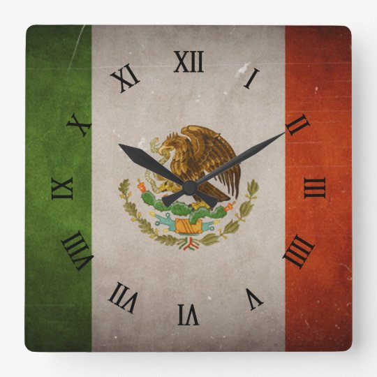 Cool Grunge Mexico Mexican Flag Wall Clocks