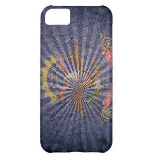 Cool Grunge North Dakota Flag iPhone 5C Cases