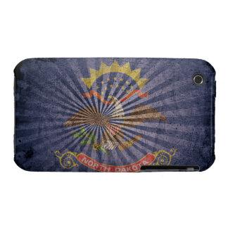 Cool Grunge North Dakota Flag iPhone 3 Cases