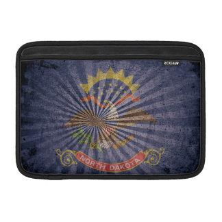 Cool Grunge North Dakota Flag MacBook Sleeve