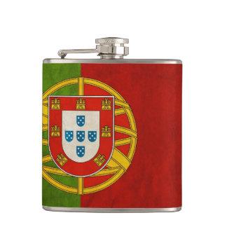 Cool Grunge Portugal Flag Bandeira de Portugal Hip Flask