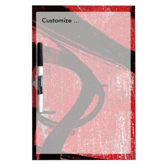 Cool Grunge Red Graffiti Dry Erase Board